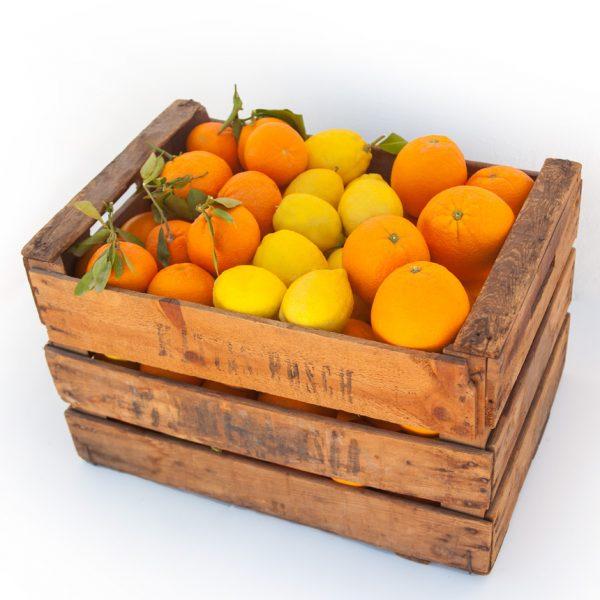 Caja mixta de naranjas de mesa, naranjas de zumo y limones