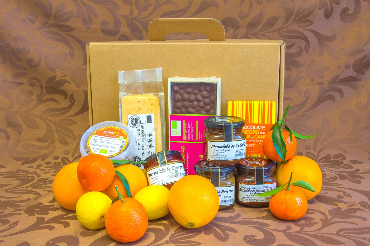 Cesta de navidad 3 productos ecol gicos las naranjas for Productos de navidad