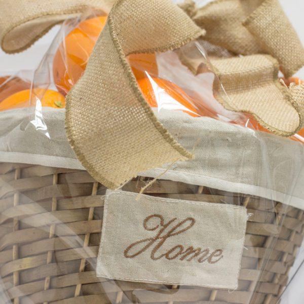 Naranjas ecológicas en cesta de regalo de mimbre Home (10kg)