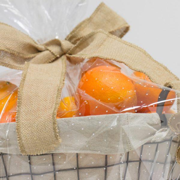 Regalos originales: Cesta de metal 15Kg naranjas