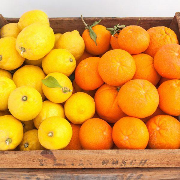Caja mixta de naranjas de zumo y limones