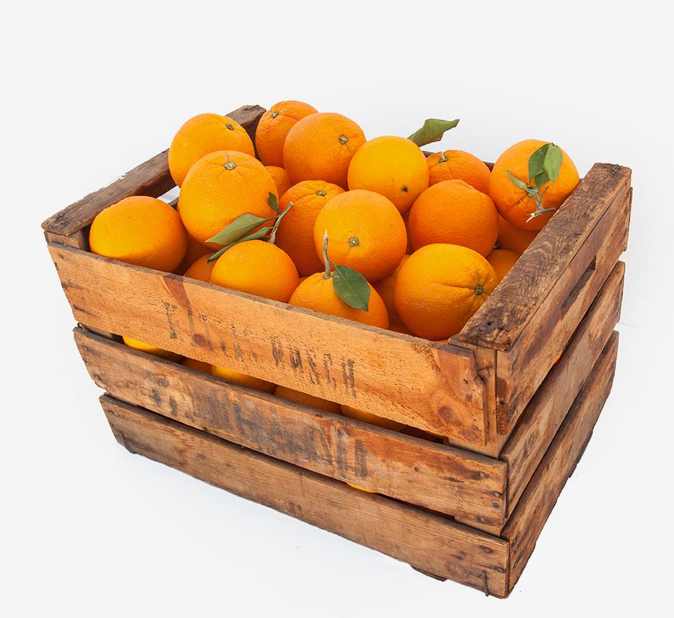 Caja de naranjas de mesa