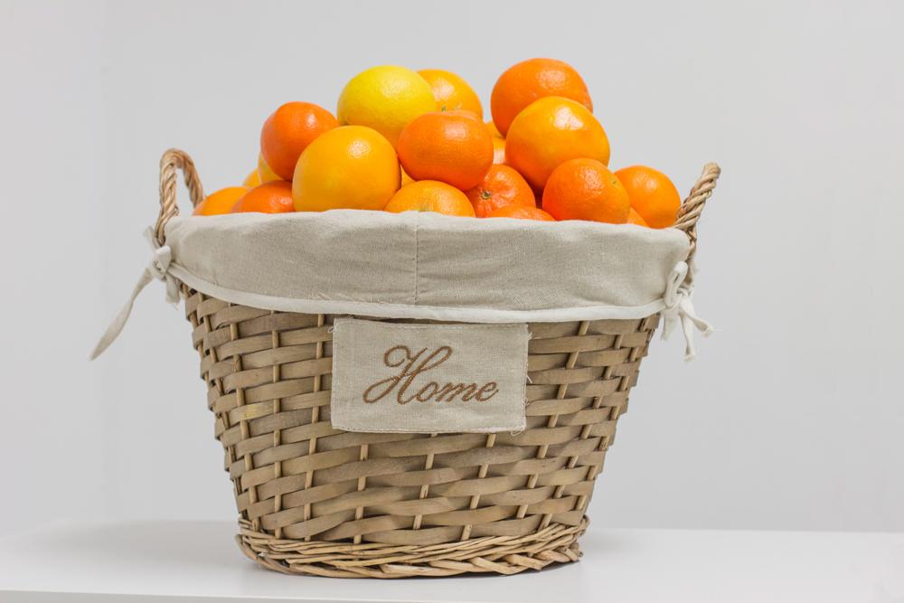 Cesta de regalo de mimbre Home (10kg) 100% Naranjas de valencia